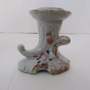 Vintage Accents - Vintage floral print China candlestick holders